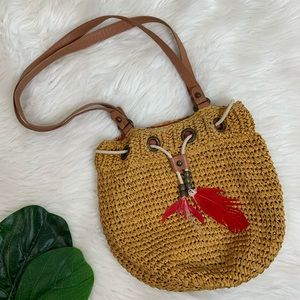 H&M Oval Boho Knitted Shoulder Bag